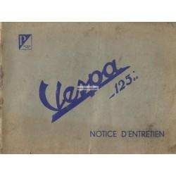Notice d'emploi et d'entretien ACMA 125 de 1952