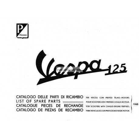 Catalogue of Spare Parts Scooter Vespa 125 VNB