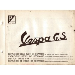 Catalogue of Spare Parts Scooter Vespa 150 GS mod. VS2T, VS3T, VS4T, VS5T