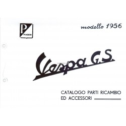Ersatzteil Katalog Scooter Vespa 150 GS mod. VS2T, Italienisch