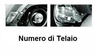 Numero di Telaio
